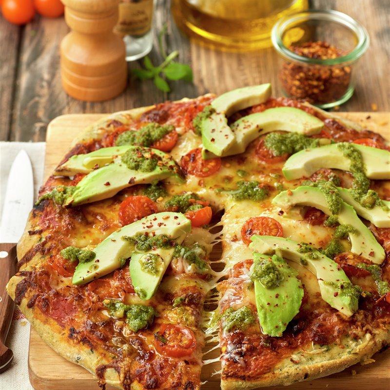 Pizza Vegetal O2d5 Pizza Ve Al Con Pesto Aguacate Y Espinacas Lecturas