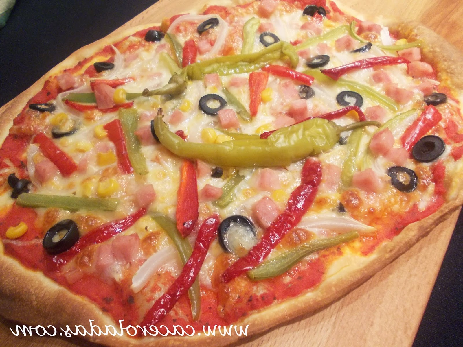 Pizza Vegetal Rldj Pizza Ve Al Con Pavo Masa Fina Caceroladas