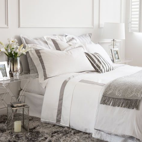 Plaid sofa Zara Home 3ldq Satin Bed Linen with Contrasting Ribbon Bed Linen Bedroom Zara