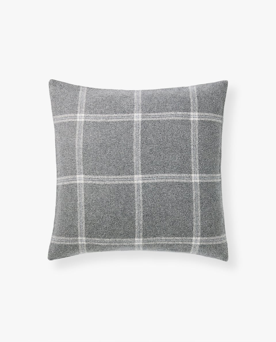 Plaid sofa Zara Home S1du Cushions Zara Home