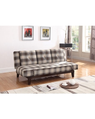 Plaids sofa 8ydm Find the Best Deals On Mid Century Plaid Adjustable sofa Bed Brown