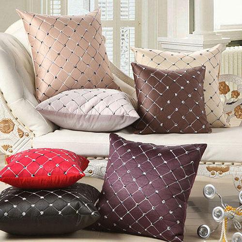 Plaids sofa 8ydm Home sofa Bed Decor Multicolored Plaids Throw Pillow Case Square