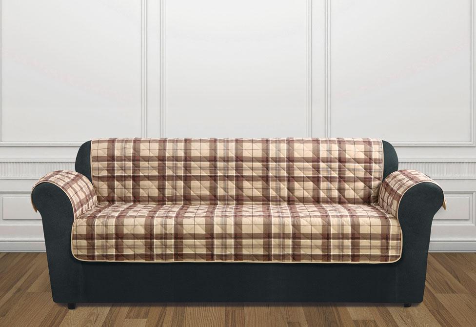 Plaids sofa 9ddf Highland Plaid sofa Furniture Cover Surefit