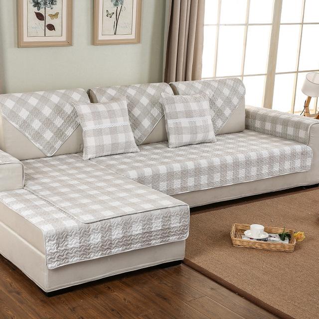 Plaids sofa Q0d4 Aliexpress Plaid sofa Cover Cotton Non Slip sofa Cushion