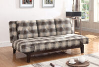 Plaids sofa Q5df Grey and Brown Plaid sofa Bed W Drop Down Console Living Room