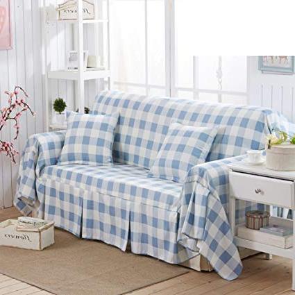 Plaids sofa X8d1 sofa Cover Blue Plaid sofa towel Full Cover sofa Cover
