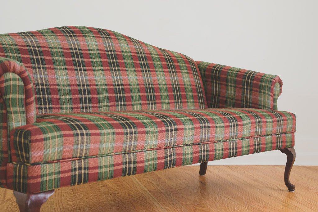 Plaids sofa Zwd9 Plaid Camelback sofa Homestead Seattle
