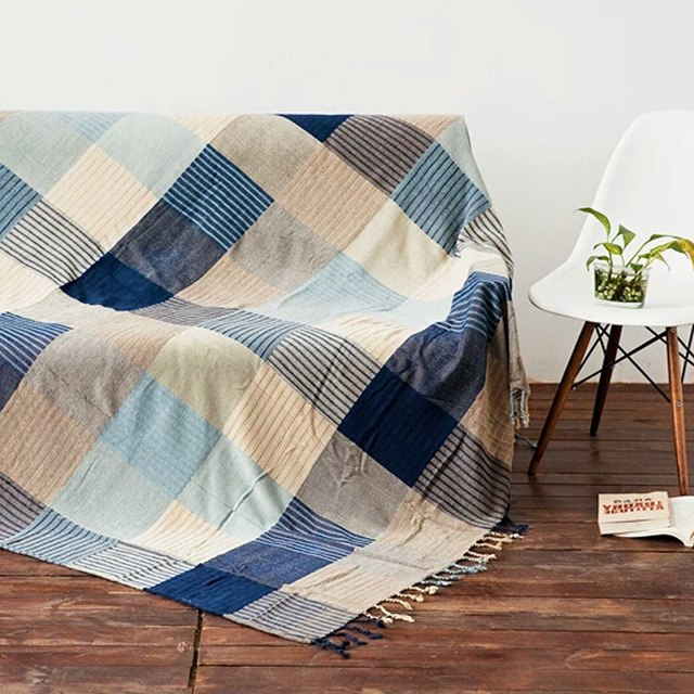 Plaids sofa Zwdg Chenille Bohemian Design Adults Tapestry sofa Bed Blanket with