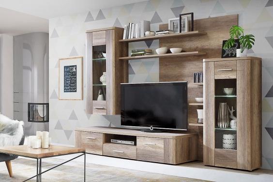 Precios De Muebles De Salon S5d8 Mueble De Salà N Edor Moderno Buffalo Roble Al Mejor Precio
