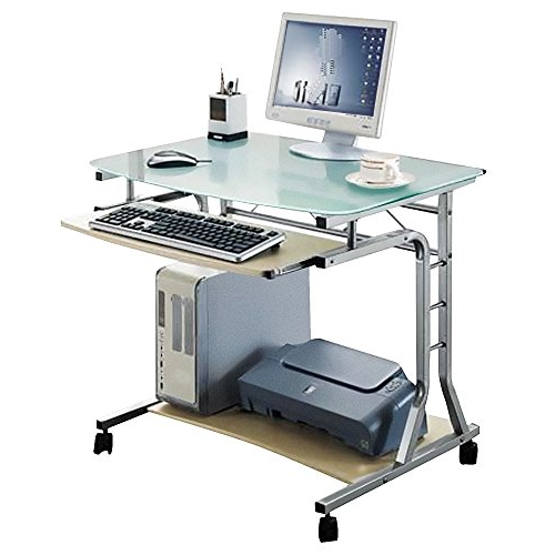 Precios De ordenadores De Mesa D0dg Sixbros Mesa De ordenador Enrollable Vidrio Arce Ct 3791a 41