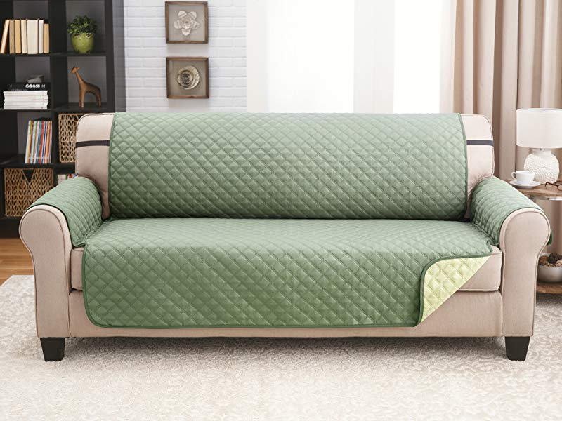 Protector De sofa Ftd8 Deluxe original Reversible Couch Slipcover Furniture
