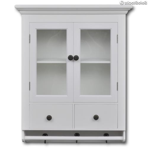 Puertas De Armarios De Cocina E6d5 Armario De Pared Para La Cocina Madera Blanca Con Puerta De Cristal