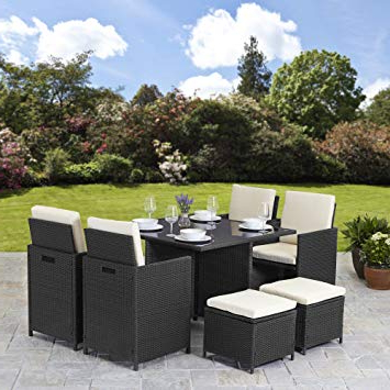 Rattan Garden Furniture Rldj Rattan Cube Garden Furniture Set 8 Seater Outdoor Wicker 9pcs Black