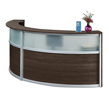 Reception Desk Q0d4 Pass Double Reception Desk with Glass Panel 125w X 48d