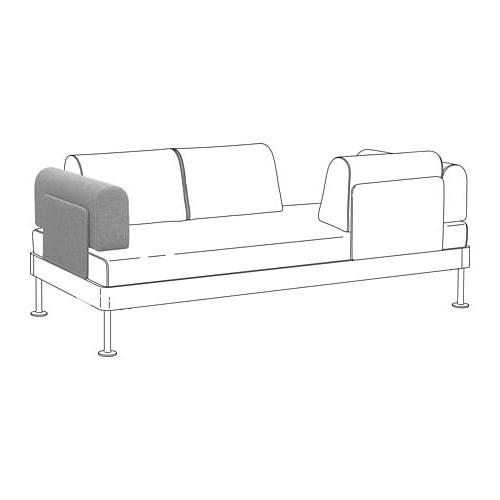 Reposabrazos sofa 8ydm Delaktig Reposabrazos Con Cojà N Tallmyra Blanco Negro Ikea