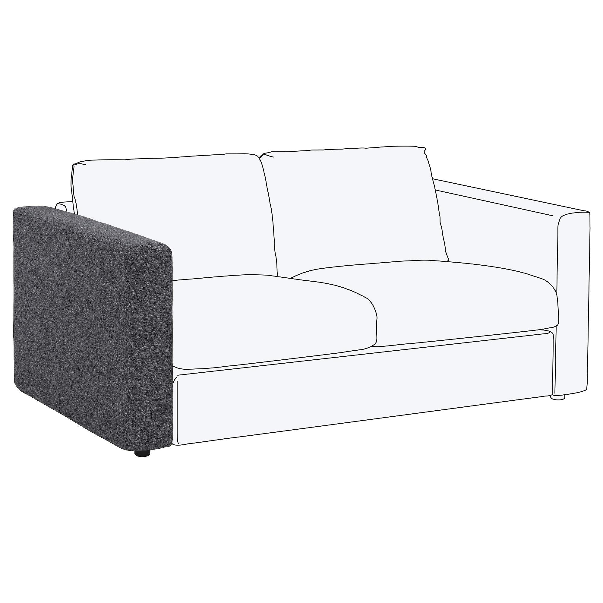 Reposabrazos sofa Bqdd Vimle Reposabrazos Gunnared Gris Ikea