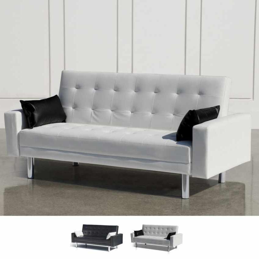 Reposabrazos sofa Dddy sofà Cama Biplaza De Cuero Artificial Con Reposabrazos Y Cojines