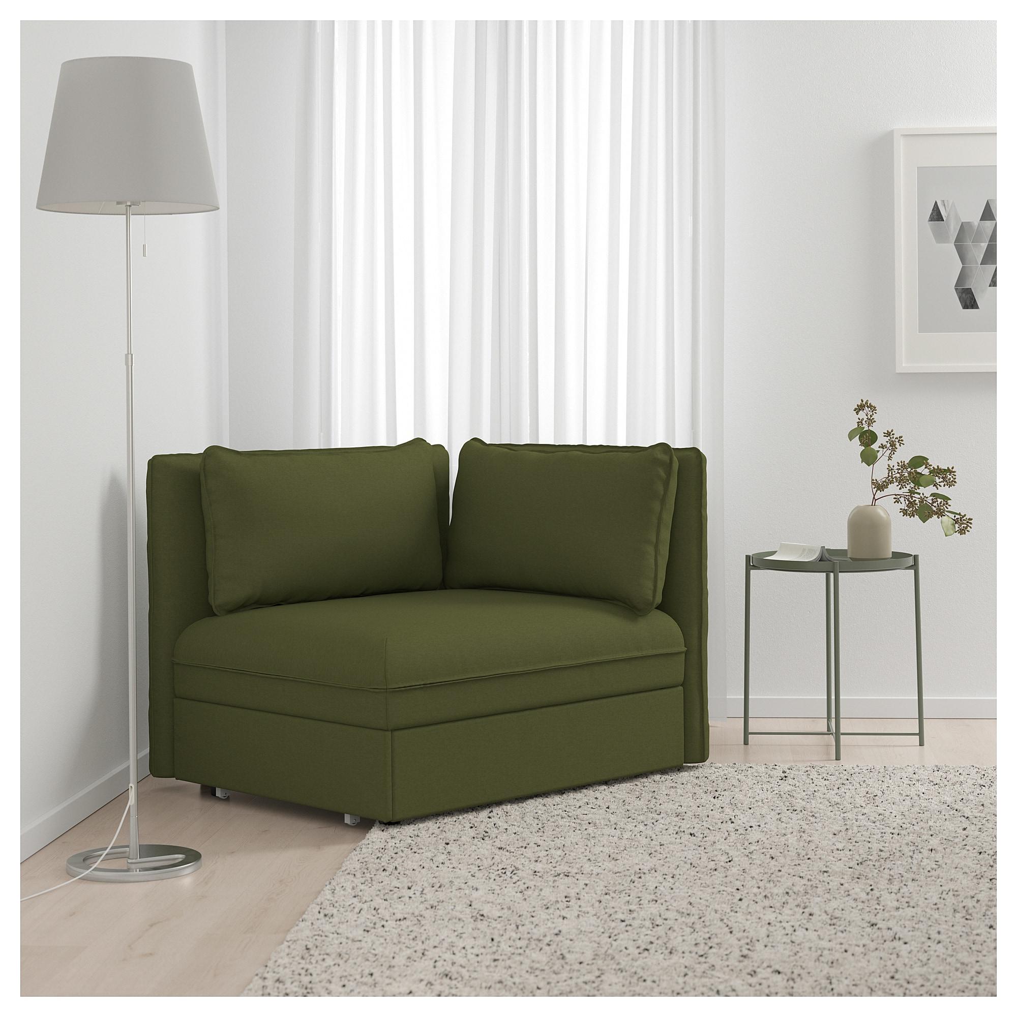 Reposabrazos sofa Wddj Vallentuna Mà Dulo sofà Cama Con Reposabrazos orrsta Verde Oliva Ikea