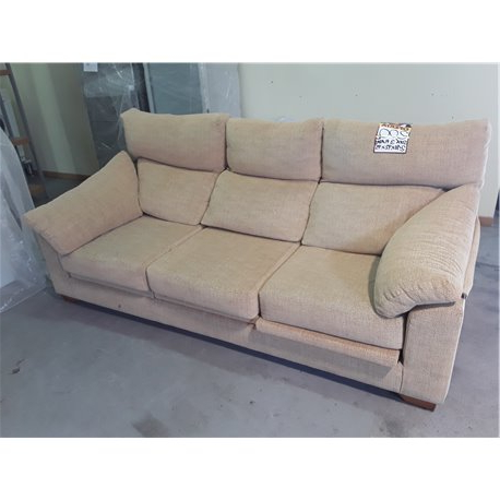 Reposapies sofa S5d8 sofà 3 Plazas Color Beis Con Reposapià S