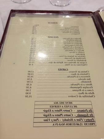 Restaurante Mesa Vitoria X8d1 Carta Precios Mà Dicos Y Bien El Menú Del Dà A Fotografà A De