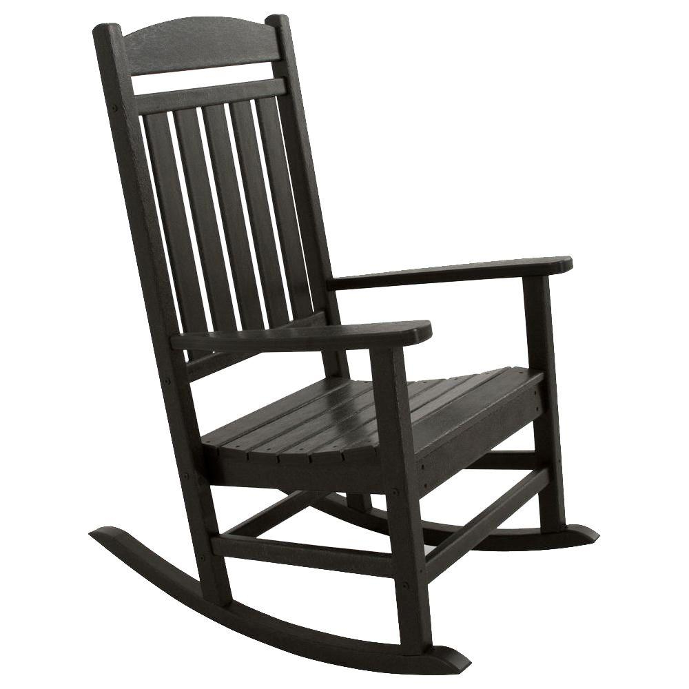 Rocking Chair Etdg Ivy Terrace Classics Black Patio Rocker Ivr100bl
