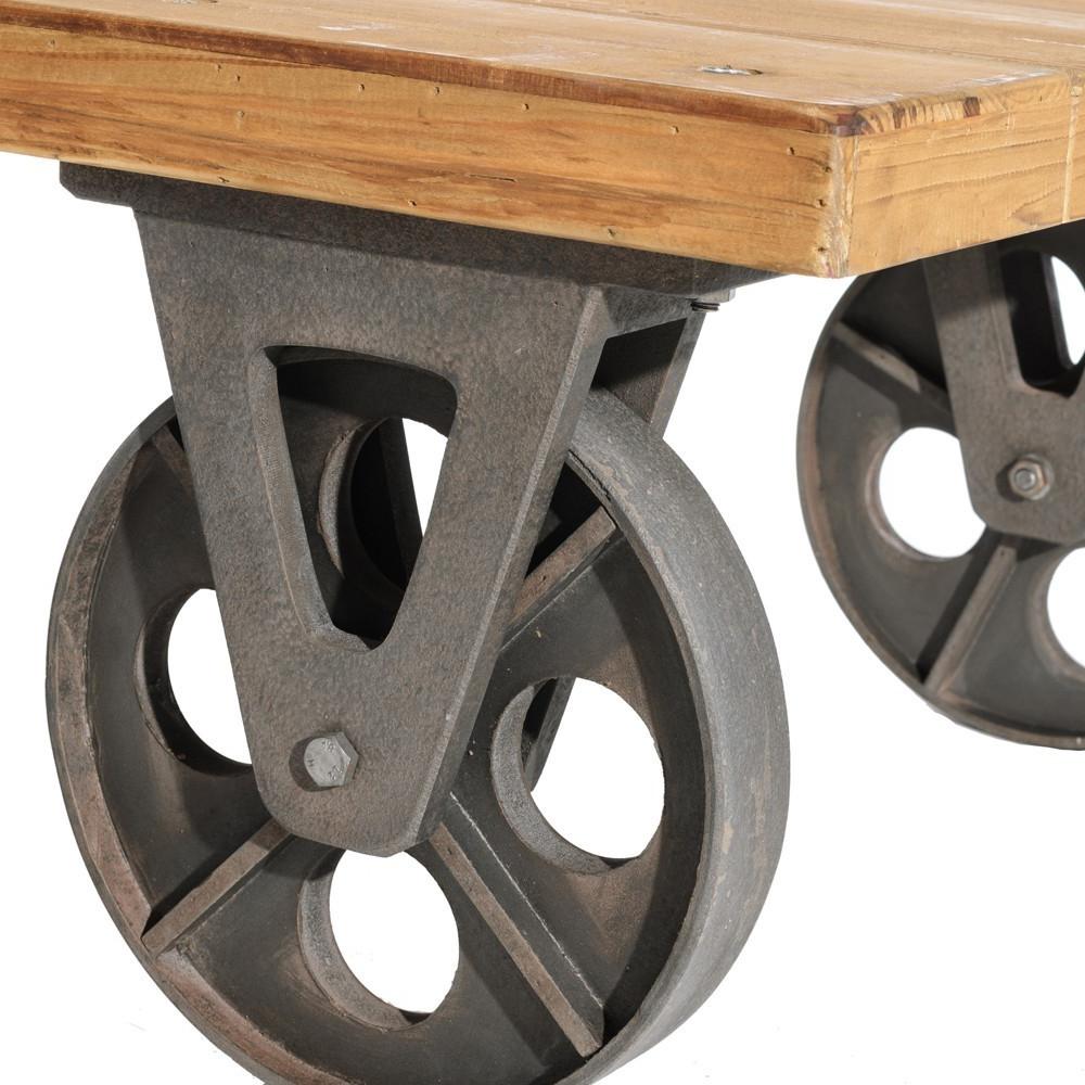 Ruedas Decorativas Para Muebles S5d8 Mesa Con Ruedas Industrial Te Imaginas
