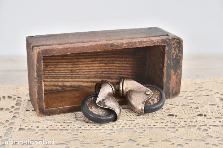 Ruedas Para Muebles Vintage Nkde Lote De 2 Antiguas Ruedas Para Muebles De 5cm R Prar En