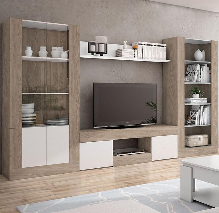 Salon Muebles J7do Mueble De Salà N En Color Sable Y Blanco De 310 Centimetros