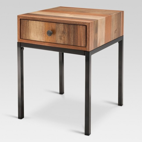 Side Table D0dg Hernwood Mixed Material Side Table Brown Tar