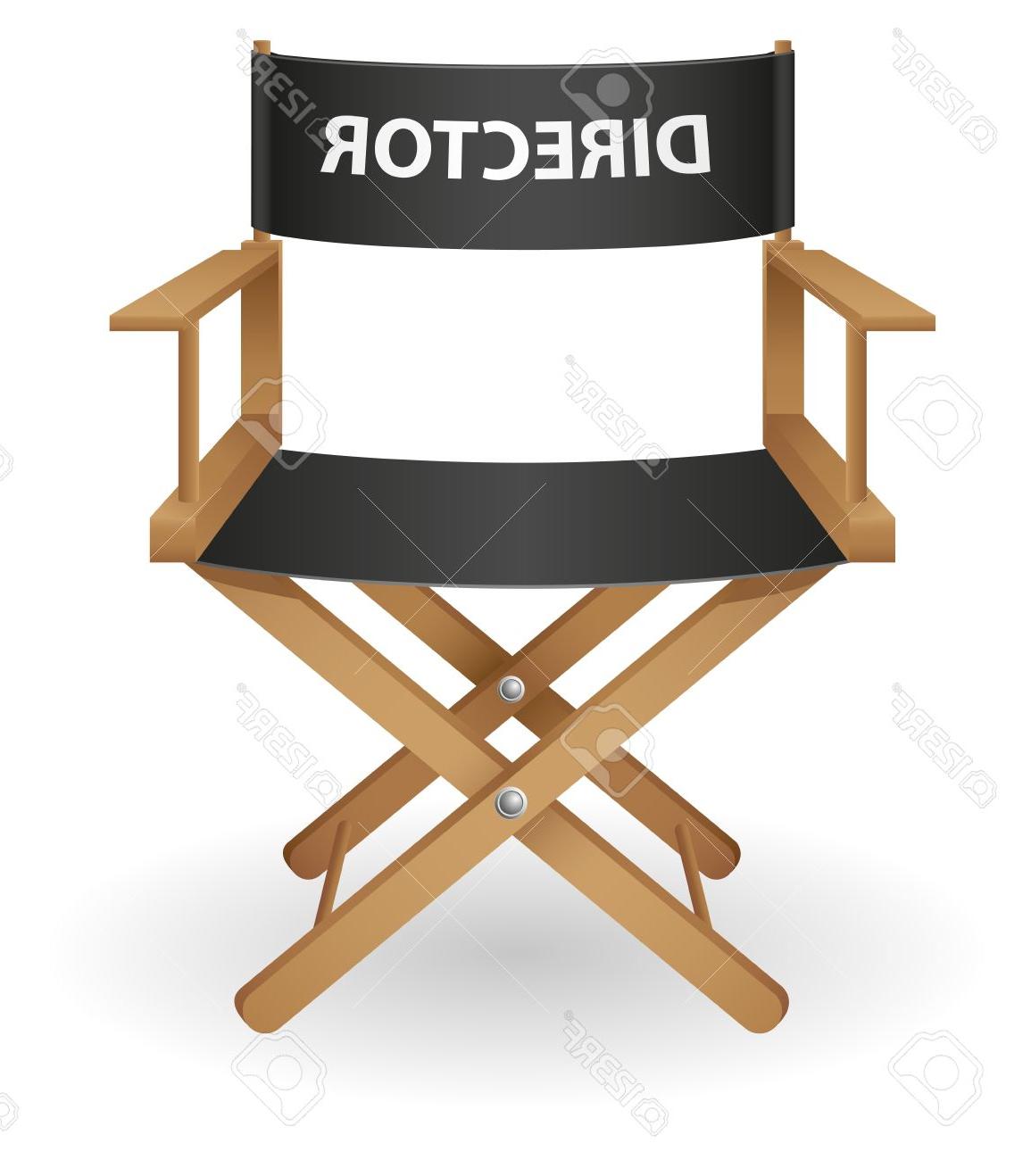 Silla De Director Ftd8 El Director De Cine Silla Ilustracià N Vectorial Aislados En Fondo