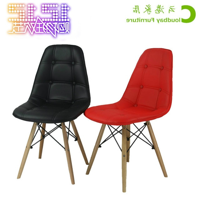 Silla De Escritorio Ikea D0dg Cuero Eames Silla Sillas Minimalista Moderna Silla De Oficina Ikea