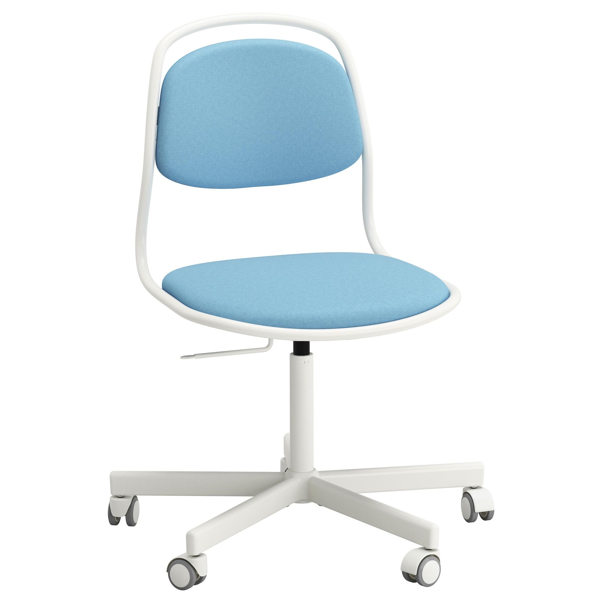 Silla De Escritorio Ikea Ipdd à Rfjà Ll Sporren Silla Giratoria Blanco Vissle Azul Claro Ikea