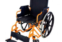 Silla De Ruedas Plegable Tqd3 Silla De Ruedas Plegable Y Autopropulsable Alegre Color Naranja
