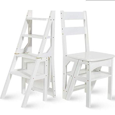 Silla Escalera Ikea 3ldq Escalera Multifuncià N Domà Stica Taburete De Madera Maciza