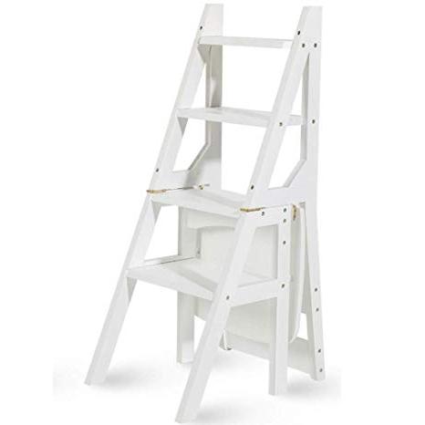 Silla Escalera Ikea X8d1 Geyao Escalera Multifuncià N Taburete Hogar Madera Maciza