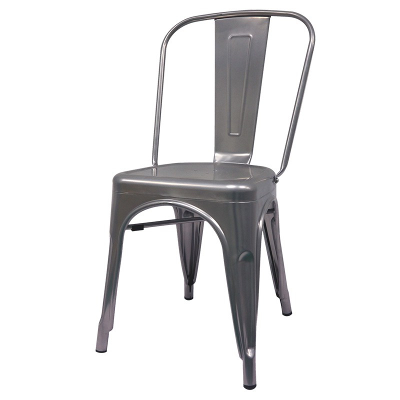 Silla Industrial Qwdq Silla Industrial tolix Gris Metalizado Muebles Marieta