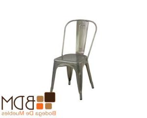 Silla Moderna Budm Silla Moderna Con Estructura De Metal Cromado Bodega De Muebles