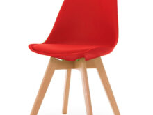 Silla Moderna Zwdg Silla Moderna De Diseà O Tulip Saarinen Base De Madera Roja 2 780