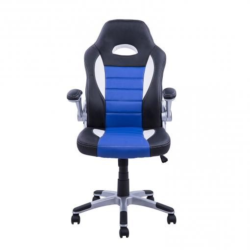 Silla Oficina Carrefour 0gdr Hom Silla Oficina Ejecutiva Giratoria Negro Azul Y Blanco