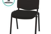 Silla Oficina Carrefour Zwdg Pack 2 Sillas Confidente Tapizadas iso Color Negro Para Oficina Salas De Espera Conferencias Apilable Chasis Acero Negro Acolchado Especial