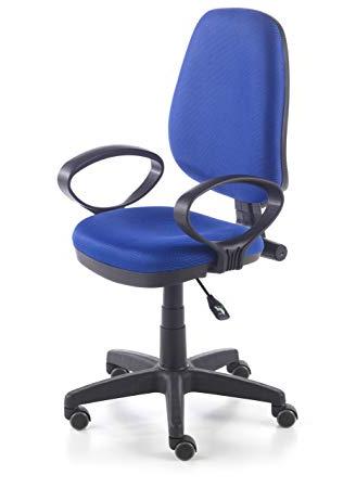Silla ordenador Amazon Budm Due Home Silla De Oficina Silla Escritorio Tapizado 3d Color Azul
