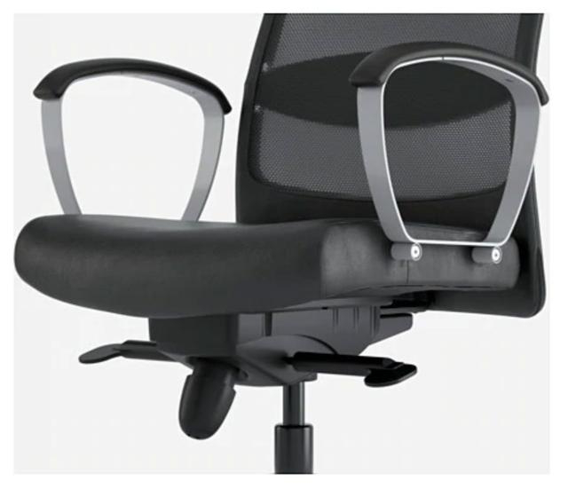 Ikea Ipdd De Mano Segunda Ordenador Nwm8v0yno Markus Silla Oficina mnw80N