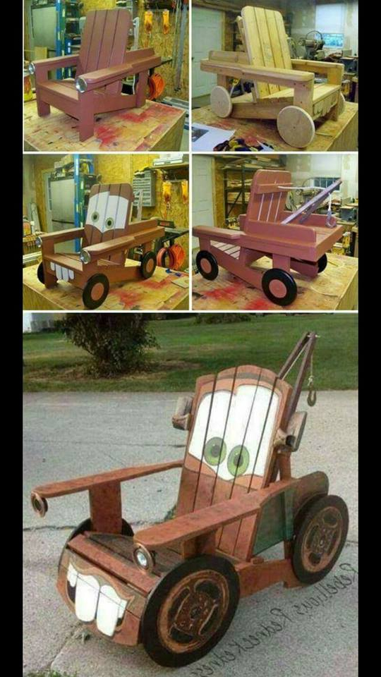 Silla Para Niños Zwdg Silla De Madera Para Nià Os De Cars Construccion Y Manualidades