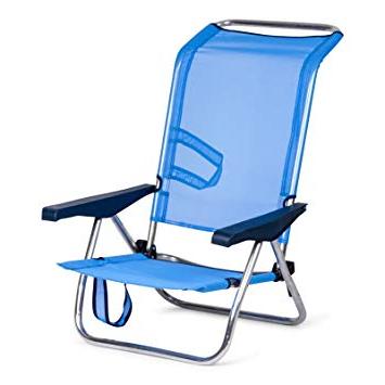 Silla Playa Plegable Dddy solenny Silla Plegable De Playa De Aluminio 4 Posiciones Y asas