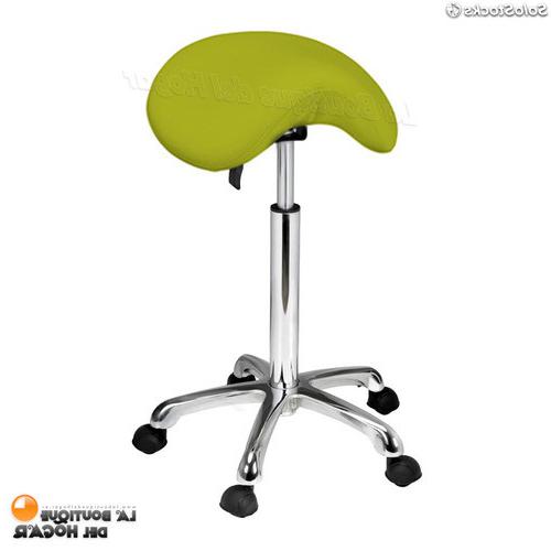 Silla Sin Respaldo E6d5 Taburete Sin Respaldo forma Silla Montar Con Ruedas 1022a Verde