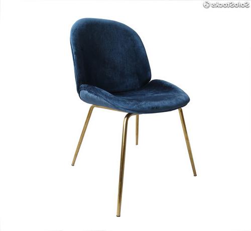 Silla Terciopelo E6d5 Silla Viper Terciopelo Azul