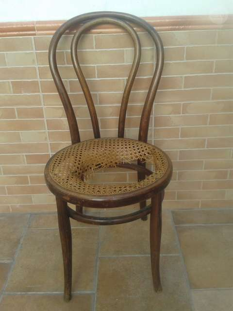Silla Thonet Kvdd Silla Thonet Antigua original Con Sello