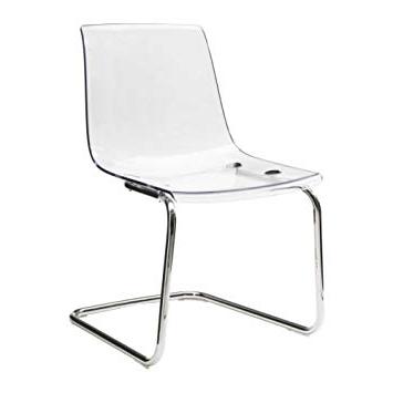Silla tobias Ikea Ffdn Ikea tobias Chair Transparent Chrome Plated