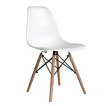 Silla tower Wood Budm Ventamuebles Silla tower Wood Blanca Hogar