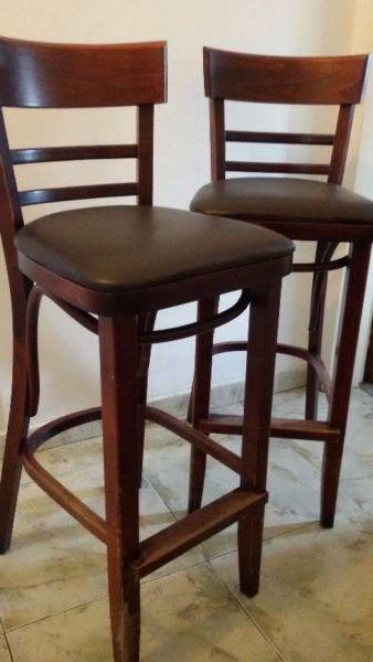 Sillas Altas Rldj 2 Banquetas Sillas Alta Thonet Madera Roble Antigua Sello En